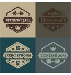 Set Sports emblem grunge vector image