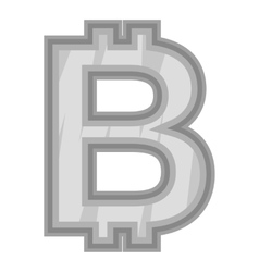 Sign bat icon black monochrome style vector image