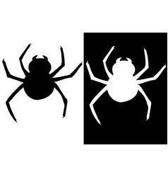 Spider silhouette vector