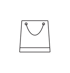 Store and shopping bag line icon modern sign vector