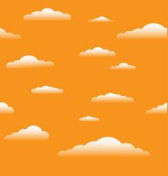 sundown sky with clouds seamless vector image