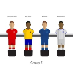Table football soccer players Group E vector