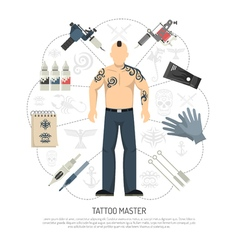 Tattoo Studio Concept vector image