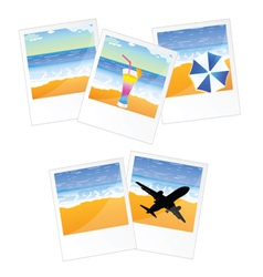 Travel picture and frame vector