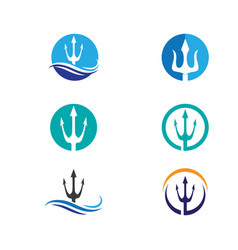 trident logo template icon vector image