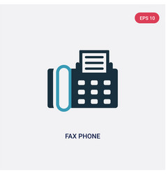 Two color fax phone icon from technology concept vector