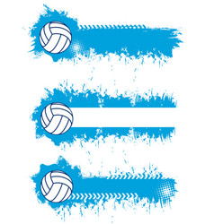 volleyball sport blank banners templates vector image