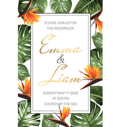 wedding event invitation rsvp card template green vector image