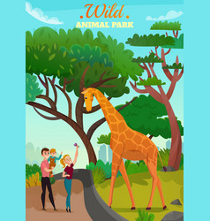 Wild animal park background vector