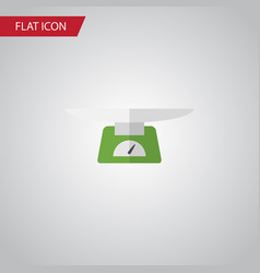Isolated weighing flat icon children scales vector