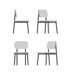 office chair isolated on white background vector image vector image
