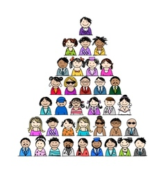 Pyramid of people icons for your design vector image vector image