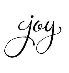 Unique hand drawn lettering of the word Joy vector image vector image