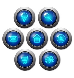 colorful glassy web buttons vector image
