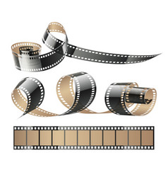 film tape twisted reels vector image vector image