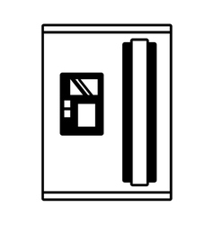 refrigerator appliance kitchen domestic outline vector image