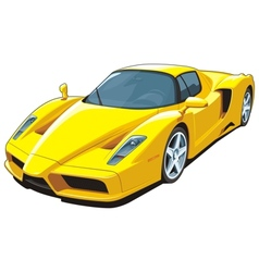 Yellow sports car vector image