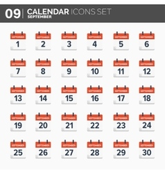 Calendar icons set Date and vector image vector image