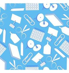 Seamless stationery vector image vector image