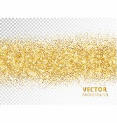 sparkling glitter border isolated on transparent vector image