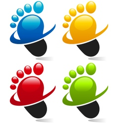 Swoosh Foot Logo Icons vector image vector image