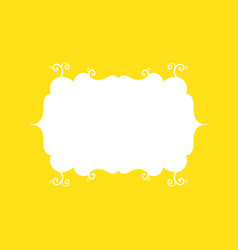 template frame design for greeting card on yellow vector image