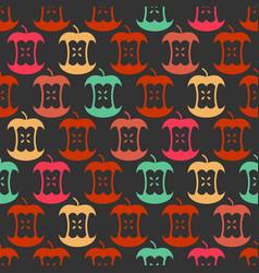 apple core seamless pattern fruit trash ornament vector image vector image