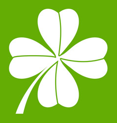four leaf clover icon green vector image
