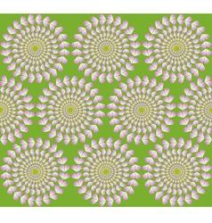 Hypnotic hearts vector image