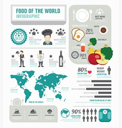 Infographic business of foods template design vector image vector image