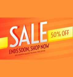 Orange voucher for sale and business promotion vector