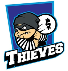 Thieves mascot vector