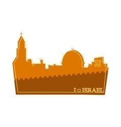 View on the landmarks of Jerusalem Old City vector image