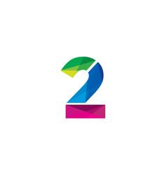 2 colorful letter logo icon design vector image