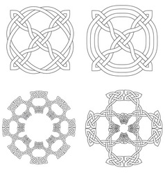 4 Celtic Knot Patterns vector image