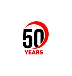 50th anniversary abstract logo fifty happy vector