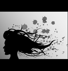 abstraction girl on background vector image
