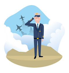 airforce man design vector image