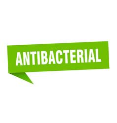 Antibacterial banner antibacterial speech bubble vector