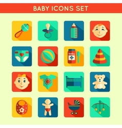 Baby Child Icons Set vector image