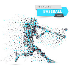 Baseball player - color dot on the vector
