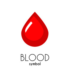 Blood icon red flat drop symbol vector