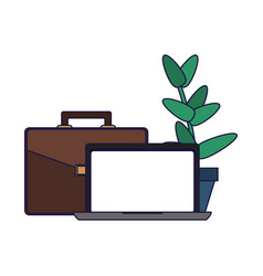 business and office elements vector image