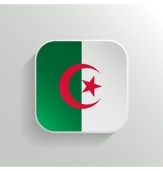 Button - Algeria Flag Icon vector