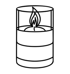 Candle glass icon outline style vector