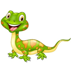 Cartoon cute lizard vector