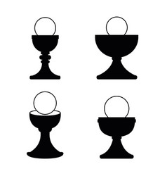 christian chalice icon set vector image