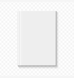 clear white blank book cover template on the alpha vector image