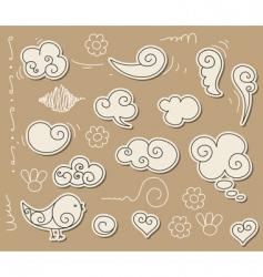 Cloud doodle vector