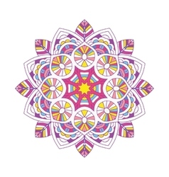 Colored floral mandala vector